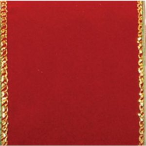 Wired Premium Burgundy with Gold Trim #40  – 50 Yard Roll