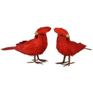 4″ Bottle Brush Standing Cardinals