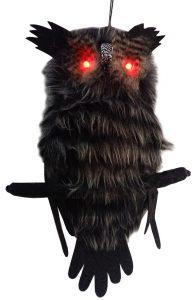 18″ Hanging Hairy Owl