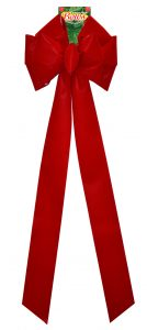 11 Loop #100 Red Bow, 14″ Wide, 36″ Tails