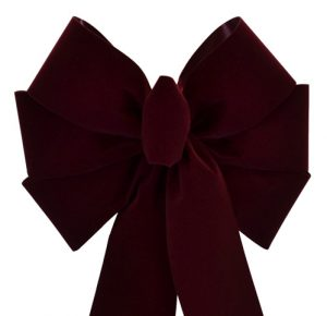 7 Loop #40 Burgundy Bow, 12″ Tails