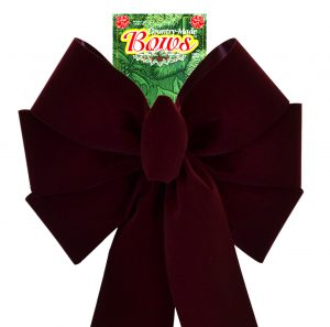 7 Loop #40 Burgundy Retail Bow,  16″ Tails