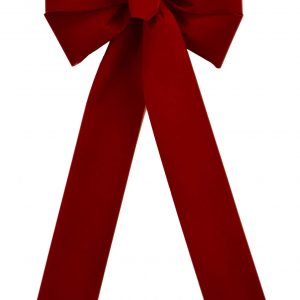 7 Loop #40 Brick Red Bow, 12″ Tails