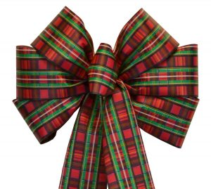 7 Loop #40 Tartan Plaid Bow, 16″ Tails