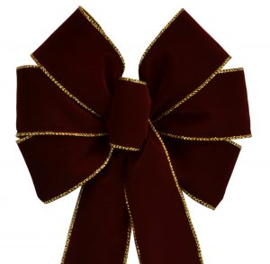 7 Loop #40 Wired Burgundy / Gold Trim, 16″ Tails