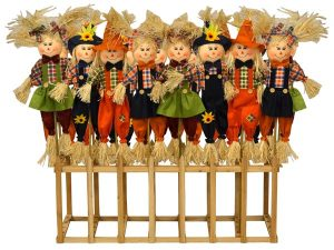 36″ Scarecrows In A Crate