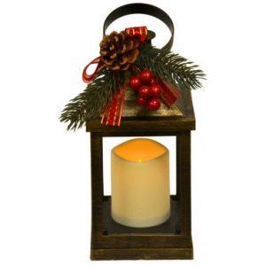 10″ LED Holiday Lantern