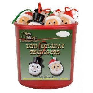 2.5″ Hanging Snowman & Santa Tealight