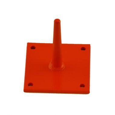 4 X 4 Safety Orange Plate Display Pins