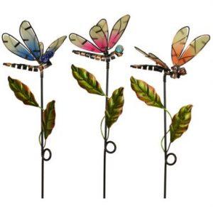 30″ Metal Dragonfly Stake