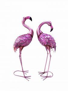 30″ Standing Flamingos
