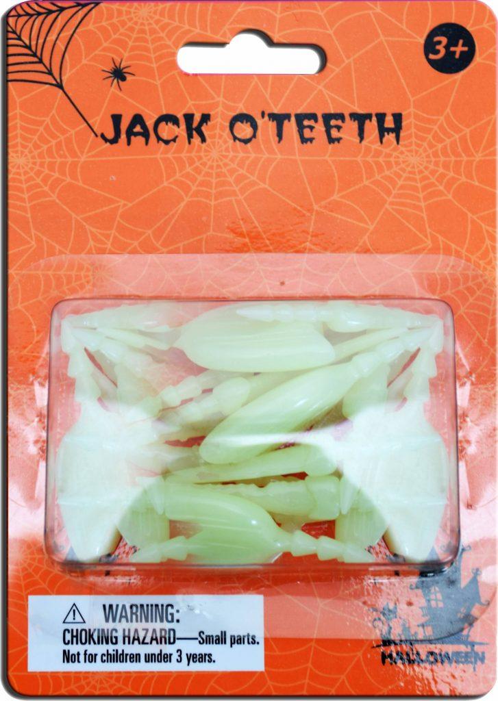 Glow In The Dark Jack O Lantern Teeth
