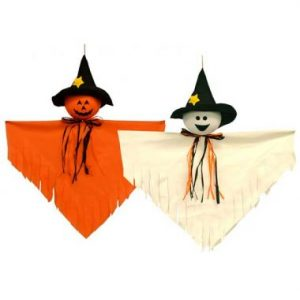 28″ Hanging Pumpkin & Ghost