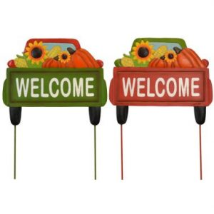 21″ Welcome Harvest Metal Truck Stake
