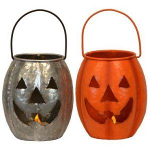 6″ Pumpkins Lantern w/ LED Candle