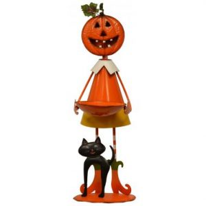 34″ Standing Pumpkin Girl w/ Bowl