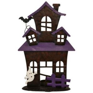 12″ Spooky House w/Candle Holder