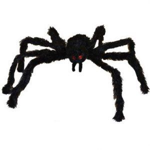 26″ Black Hanging Hairy Spider