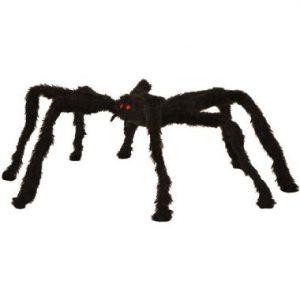 60″ Black Hanging Hairy Spider