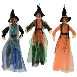 20″ Hanging Witch with Lights