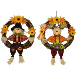 11″ Scarecrow Wreath