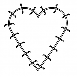 18″ Heart Specialty Frame