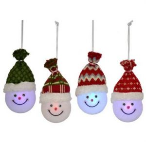 7″ LED Snowman Ornaments