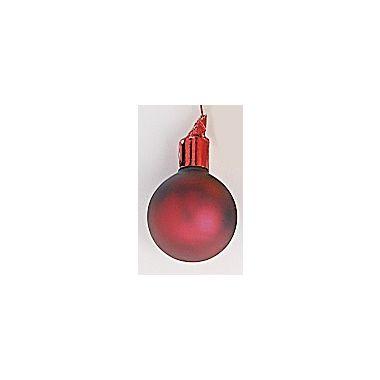 35mm Matte Glass Ball / Burgundy