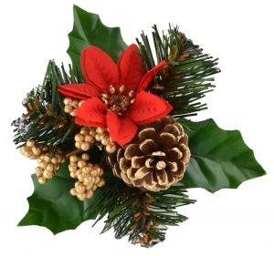 Snowy / Cone / Red Poinsettia / Gold Berry