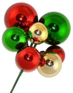 Multi Color Plastic Ball Pick Red/Gold/Green