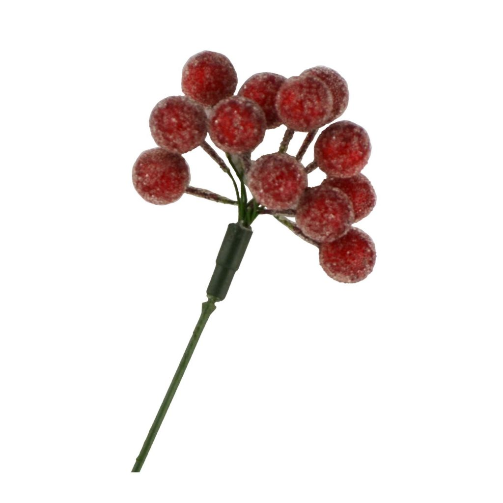 Frosted Red Berries – 12mm X 12