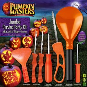 Pumpkin Masters Jumbo Carving Party Kit w/ JOR Scoop
