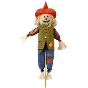 60″ Pumpkin Face Scarecrow