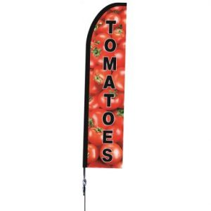 "Shark Fin ""Tomatoes"" Flag Only"