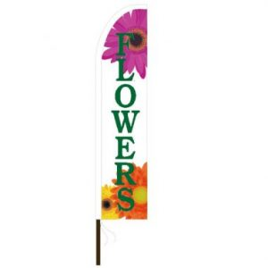 "Shark Fin ""Flowers"" Flag Only"