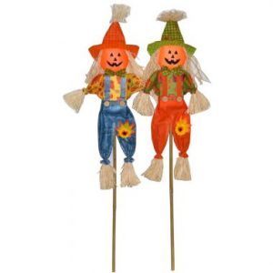 36″ Pumpkin Face Stakes
