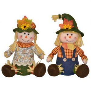 12″ Plush Sitting Scarecrow
