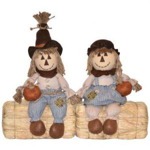 17″ Plush Sitting Scarecrow