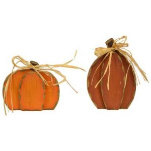 Standing Wood Pumpkins