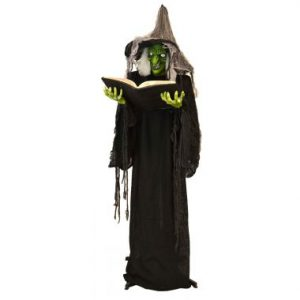 74″ Standing Witch w/ Book, Light & Sound