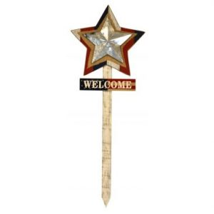 36″ Wood Welcome Stake