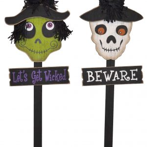36″ Wood Halloween Stakes