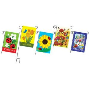 36″ Yard Flag Assortment with Pole