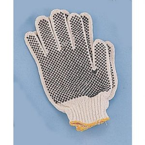 Small Cotton Vinyl Dot Gloves