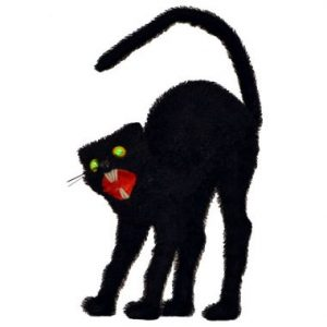 14″ Black Cats with LED Eyes