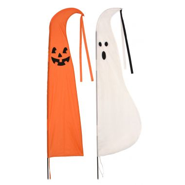 108″ Pumpkin and Ghost Flag