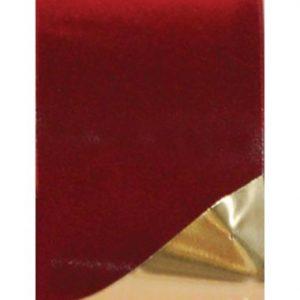 Burgundy Velvet Ribbon with Gold Back