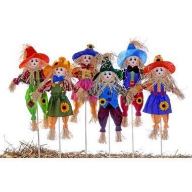 18″ ColorFall Bunch Scarecrow