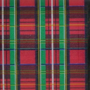 Red Tartan Plaid Ribbon #40