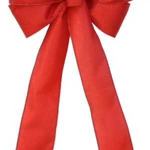 7 Loop #40 Wired Janet Red Bow, 16″ Tails